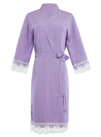 Bride Bridesmaid Cotton With Ankle-Length Kimono Robes