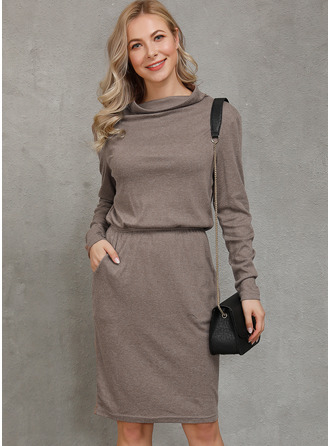 Solid Bodycon Long Sleeves Maxi Casual Elegant Dresses