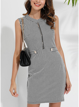 Print Bodycon Sleeveless Mini Casual Elegant Dresses