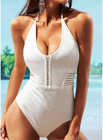 One-piece Polyester Solid Color Women's No Swimwear