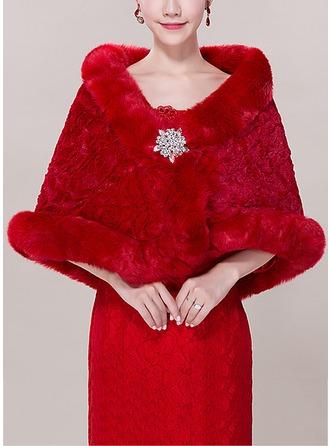 Faux Fur Acrylic Fashion Wrap