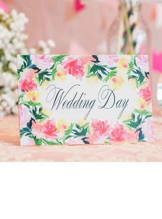 Blumen-Stil Top Falten Einladungskarten (Satz 10)