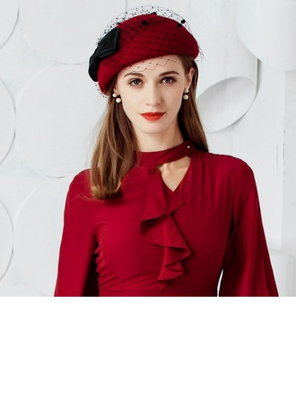 Ladies' Eye-catching Wool With Bowknot Bowler/Cloche Hats/Tea Party Hats