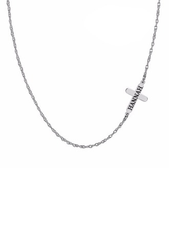 Personalized Ladies' Elegant Gold Plated/Silver Plated Engraved Necklaces For Bride/For Bridesmaid/For Couple