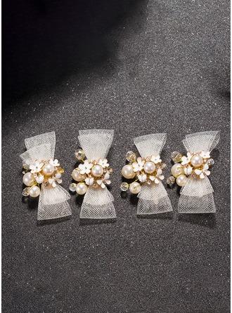 Aleación/La perla de faux/Diamantes de imitación con La perla de faux/Diamantes de imitación Horquillas (Juego de 3)