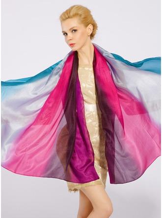 Цвет градиента облегченный/негабаритный/Платки Шелковые Шелковый шарф