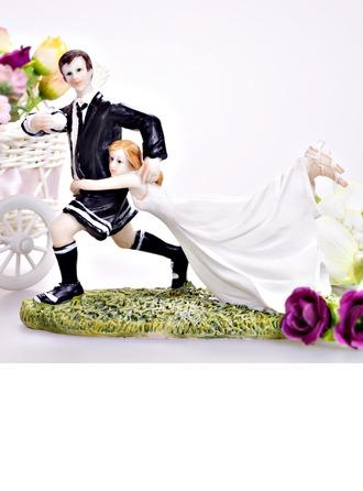 """Love Match"" Couple Resin Wedding Cake Topper"