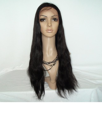 4A Non remy Straight Human Hair Lace Front Wigs