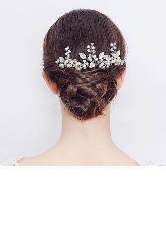 Crystal/Freshwater Pearl Hairpins (Set of 2)