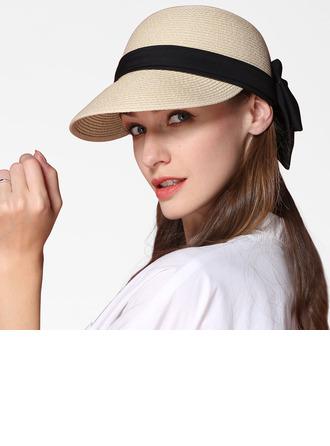 Signore Semplice/Fantasia Papiro con Bowknot Cappello di paglia/Beach / Sun Cappelli