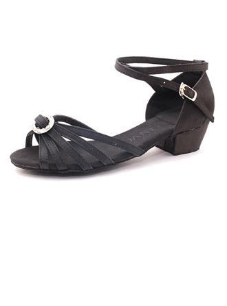 De mujer Satén Sandalias Danza latina con Agujereado Zapatos de danza
