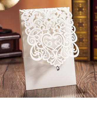 Personalized Classic Style/Modern Style Top Fold Invitation Cards/Birthday Cards/Response Cards/Thank You Cards/Greeting Cards (Set of 50)