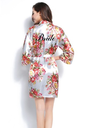 Personlig Brud Brudepike Blomsterpike Polyester med Kort Personlig Robes Blomsterklær Jente kjoler