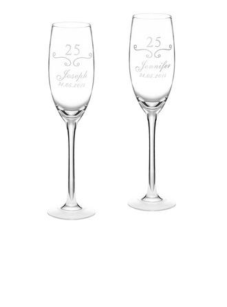 Sposo Regali - Personalizzato Stile Moderno Vetro Champagne Flutes (Set di 2)
