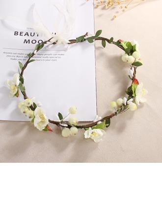 Precioso sola flor Redondo Tela Tocado de Flores -