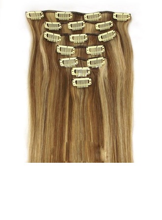 4A Non remy Straight Human Hair Clip in Hair Extensions 7pcs 100g