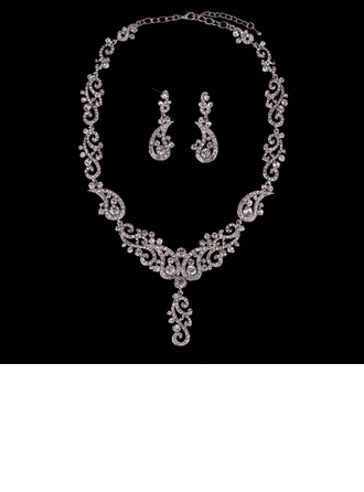 Shining Alloy Gold Plated With Rhinestone Imitation Stones Ladies' Jewelry Sets (Set of 3)