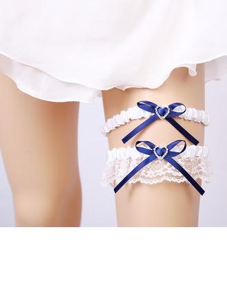 2-Piece/Elegant Lace With Rhinestone Wedding Garters