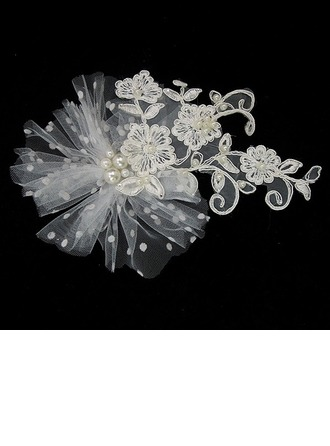 Lovely Lace/Tulle Headbands With Pearl