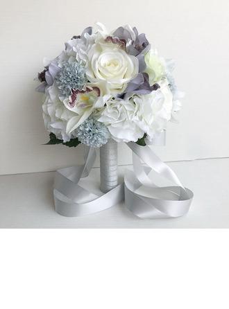 Floreciente Redondo Ramos de novia/Ramos de la dama de honor -