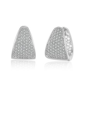 Damen Einfache Kupfer/Zirkonia Zirkonia Ohrringe Ihr