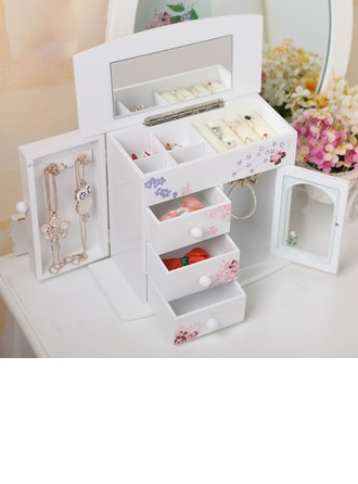 Cadeaux De Mariée - Beau Style Classique En Bois Boîte à bijoux