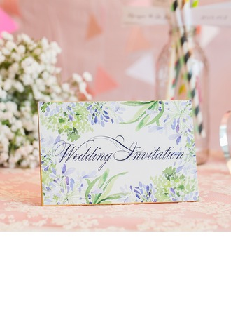 Florales Estilo Top Fold Tarjetas de invitación