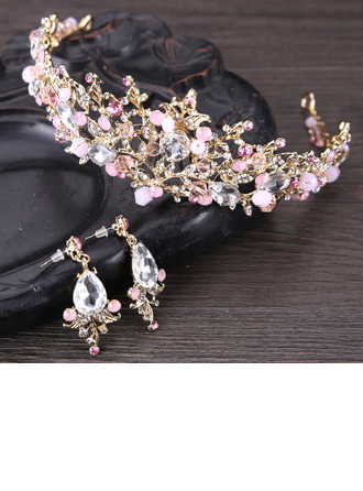 Gorgeous Rhinestone/Alloy Tiaras With Rhinestone (Sold in single piece)