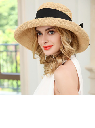 Ladies' Simple/Fancy Raffia With Bowknot Straw Hats/Beach/Sun Hats