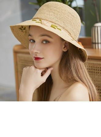 Ladies' Simple/Handmade Raffia Straw With Bowknot Beach/Sun Hats/Tea Party Hats