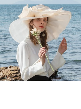 Sonar Naisten värikäs Organzanauha jossa Feather Levyke hattu/Kentucky Derbyn hatut