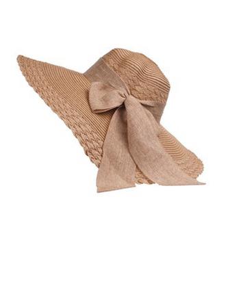 Ladies' Beautiful Raffia Straw With Bowknot Floppy Hat/Beach/Sun Hats