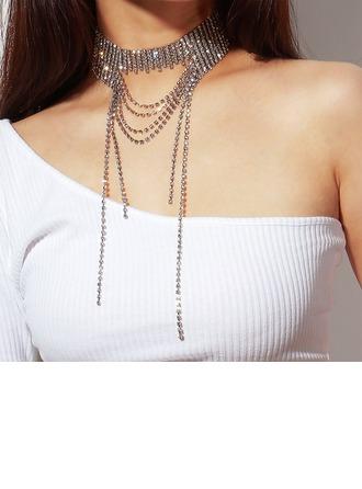 Unik Legering med Tofsar Kvinnor Mode Halsband (Säljs i ett enda stycke)