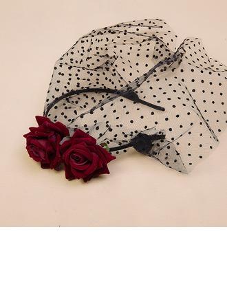 Senhoras Charmosa/Elegante/Simples/Feito à mão Fio rede/Veludo Fascinators