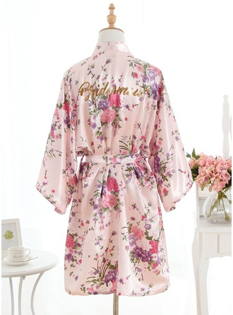 Bridesmaid Silk Floral Robes