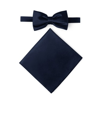Classic Bow Tie Pocket Square charmeuse