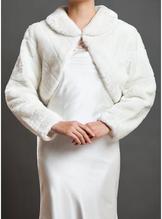 Long Sleeve Faux Fur Wedding Wrap