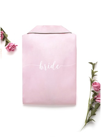 Non-personalized Charmeuse Bride Embroidered Robes