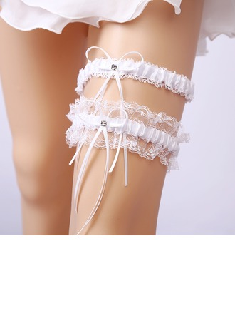 2-Piece/Classic Lace With Rhinestone Wedding Garters
