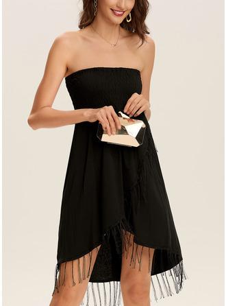 Solid Sheath Sleeveless Mini Little Black Casual Vacation Dresses