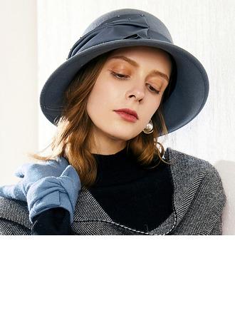 Dames Glamour/Élégante/Jolie Coton avec Strass Chapeau melon / Chapeau cloche