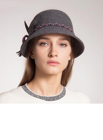 Señoras' Hermoso/Estilo clásico/Elegante Madera Disquete Sombrero