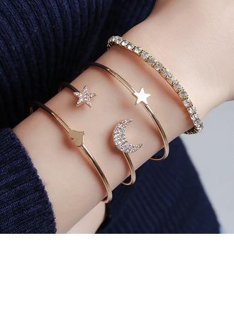 À la mode Alliage avec Strass Femmes Bracelets de mode (Lot de 4)