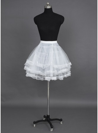 Women/Girls Nylon/Tulle Netting Short-length 3 Tiers Petticoats
