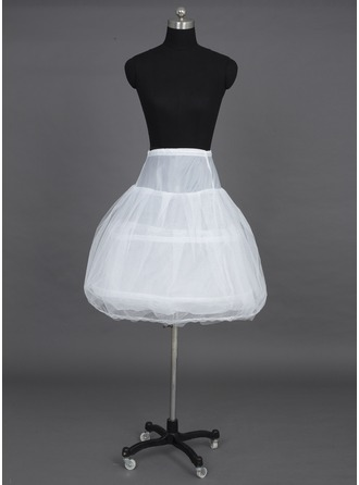 Women Tulle Netting/Taffeta Knee-length 3 Tiers Petticoats