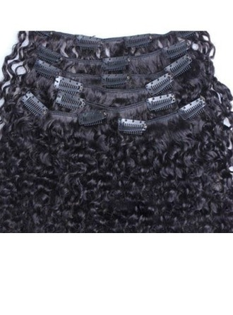 4A Non remy Kinky Curly Human Hair Clip in Hair Extensions (Sold in a single piece) 100g