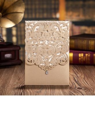 Personlig Klassisk stil/moderne stil Top Fold Invitasjonskort/Bursdagskort/Svar Kort/Takkekort/Gratulasjonskort (Sett Av 50)