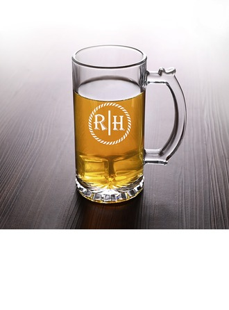 Groom Gifts - Personalized Classic Elegant Glass Glassware and Barware