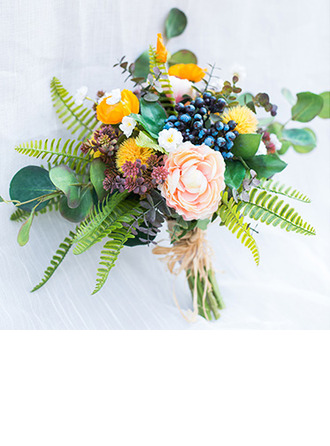 Pretty Cascade Artificial Flower Bridal Bouquets (Sold in a single piece) - Bridal Bouquets