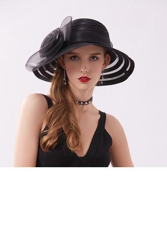 Ladies' クラシック/かわいい サテン とともに 花 ビーチ/サンハット/ケンタッキーダービー帽子/ティーパーティーハット